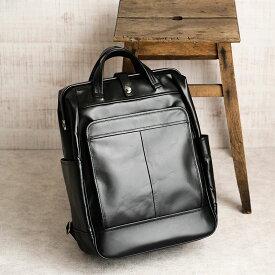 【ふるさと納税】ダレスリュック 豊岡鞄 FW01-101-10(ブラック) / カバン かばん バッグ