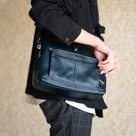 【ふるさと納税】ダレスショルダー 豊岡鞄 FW01-103-50(ネイビー) / カバン かばん バック