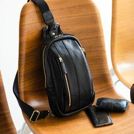 【ふるさと納税】豊岡鞄 皮革ワンショルダー(ブラック) / カバン かばん バック