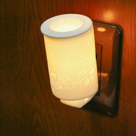【ふるさと納税】陶製アロマおやすみライト「透かし彫り」