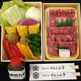 【ふるさと納税】黒田庄和牛と七色の野菜バーベキューセット(モモ、バラ計500g)