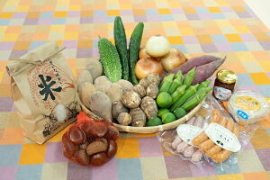 【ふるさと納税】【旬のお野菜&お米2kg詰め合わせセットC】農産物直売所「北はりま旬菜館」からお届け!