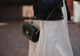 【ふるさと納税】鞄職人が手掛ける【チープポシェット】グリーン