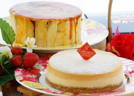 【ふるさと納税】とりいさん家の芋ケーキ3号サイズ&caramelチーズケーキ【イモケーキ】【チーズケーキ】