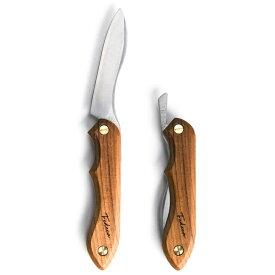 【ふるさと納税】【アウトドア】折畳式料理ナイフ ビルマチーク【ナイフ】