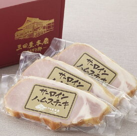 【ふるさと納税】B0101 三田屋本店サーロインハムステーキセット