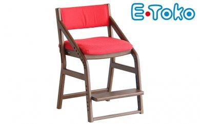 【ふるさと納税】E−Toko 子供チェア(カバー付/レッド) 【家具・椅子】