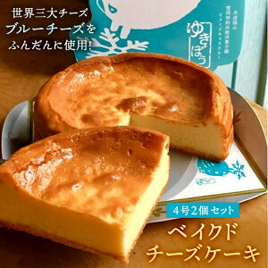 【ふるさと納税】基本の雪岡の「ベイクドチーズケーキ」と世界三大ブルーチーズのひとつ「ゴルゴンゾーラのチーズケーキ」2個セット   チーズケーキ ちーずけーき お取り寄せ スイーツ