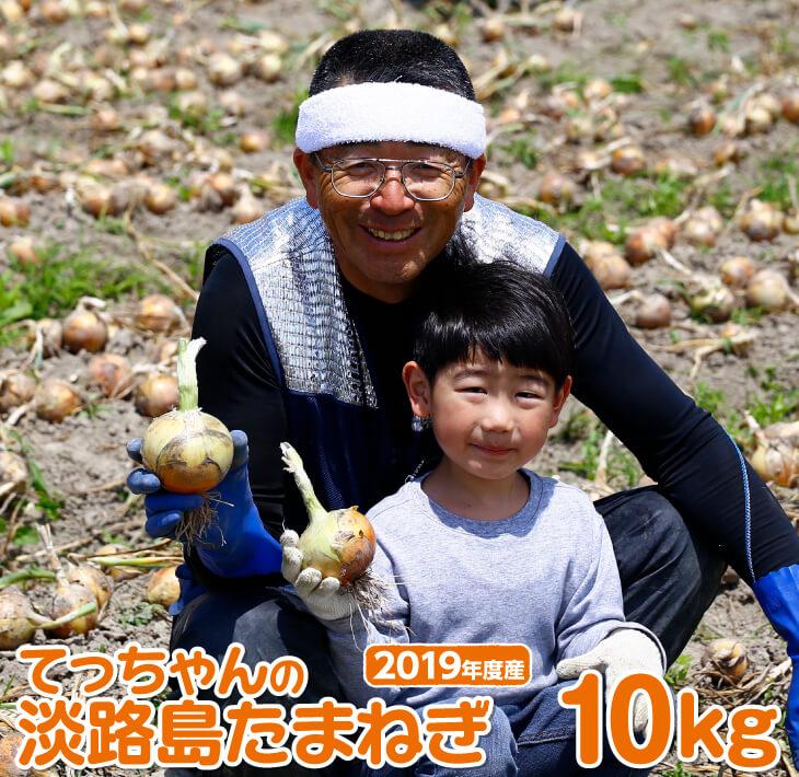 【ふるさと納税】[2019年度産新玉ねぎ]てっちゃんの淡路島新たまねぎ10kg