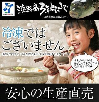 【ふるさと納税】【若男水産】【淡路島3年とらふぐ】梅ふぐ鍋セット(3〜4人前)