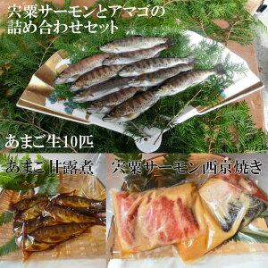 【ふるさと納税】AU3 宍粟サーモンとあまごの詰め合わせセット