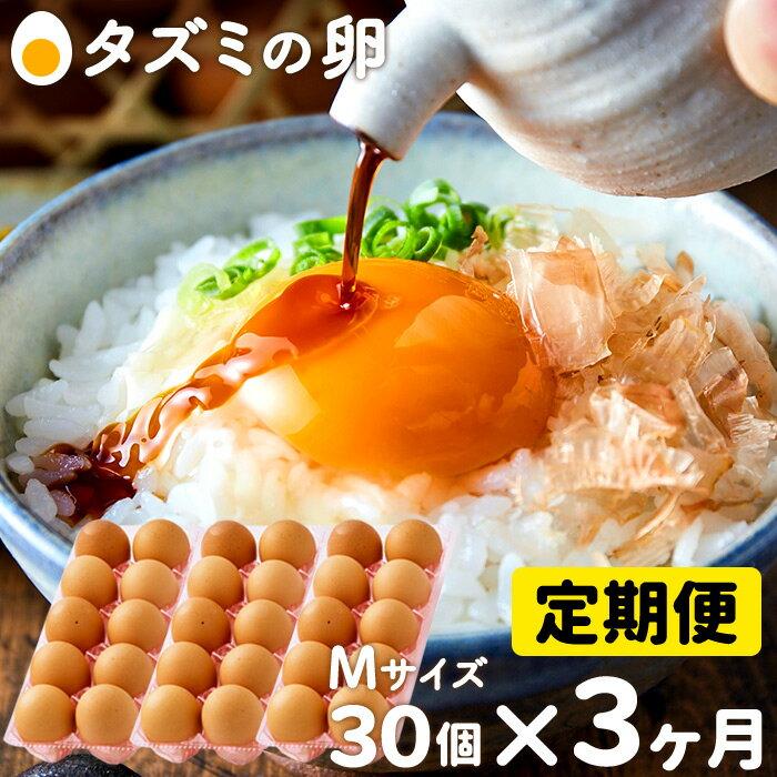 【ふるさと納税】010AB03N.タズミの卵(30個×3ヶ月)