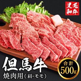 【ふるさと納税】010AA05N. 但馬牛 焼肉用 (肩・モモ) 合計約500g (2〜3人前) 経産牛 BBQ バーベキュー 黒毛和牛 焼き肉 牛肉 肉 赤身