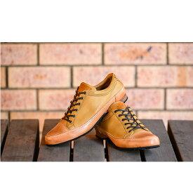 【ふるさと納税】ゴラックジャパンメイド鹿革シューズGLK2001(ライトブラウン) 【ファッション・靴・シューズ・革製品・革靴】