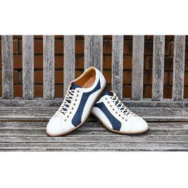 【ふるさと納税】倭イズム 牛革×デニム紳士靴 YA3310 ホワイト 【ファッション・靴・シューズ】