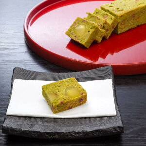 【ふるさと納税】[卯之庵特製] 大和の里 栗と干し柿の抹茶パウンドケーキ (約50g×8ピース)