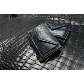 【ふるさと納税】クロコ カルムミニウォレット/三つ折財布 革 クロコダイル