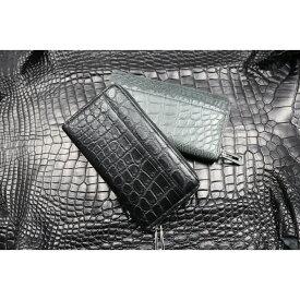 【ふるさと納税】クロコラウンドファスナー カルムウォレット/長財布 革 クロコダイル