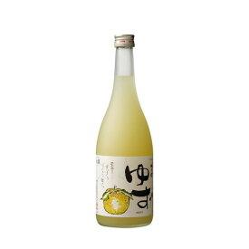【ふるさと納税】梅乃宿 ゆず酒 720ml/国産 柚子 果汁たっぷり 奈良県 葛城市 人気 おいしい おすすめ