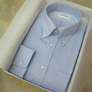 【ふるさと納税】オーダーワイシャツOT オリジナルネーム入り貝ボタン仕様-奈良県川西町産「高瀬貝」にオリジナルネームを彫刻したものを使用-