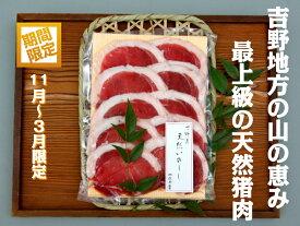 【ふるさと納税】吉野産 天然猪肉 特選吉野牡丹480g