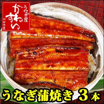 【ふるさと納税】国産うなぎ蒲焼き 3本セット(1尾:120〜149g)