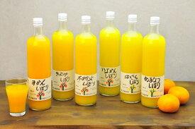【ふるさと納税】伊藤農園100%ピュアジュース大ビン750mlおまかせ6本セット有田みかんジュース