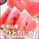 【ふるさと納税】小玉すいか(ひとりじめ7)2〜3玉和歌山産