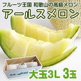 【ふるさと納税】アールスメロン大玉(3玉)とろける食感の夏果実