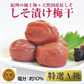 【ふるさと納税】しそ漬け梅干(紀州南高梅)1kg 特選A級 大粒 3L以上 和歌山県産