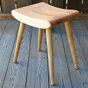 【ふるさと納税】木の椅子工房G.WORKSの「ふんわりスツール」(幅37cm×奥行30cm×高さ44cm)