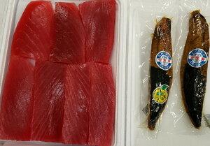 【ふるさと納税】勝浦産生キハダマグロお刺身+鰹焼節セット