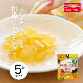 【ふるさと納税】柑橘じゃばら入りグミ5袋セット ※離島への発送不可(北海道、沖縄本島は配送可能)