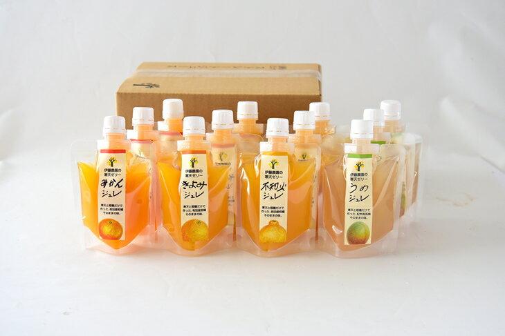 【ふるさと納税】伊藤農園ピュアフルーツ寒天ジュレ12個ゼリーセット
