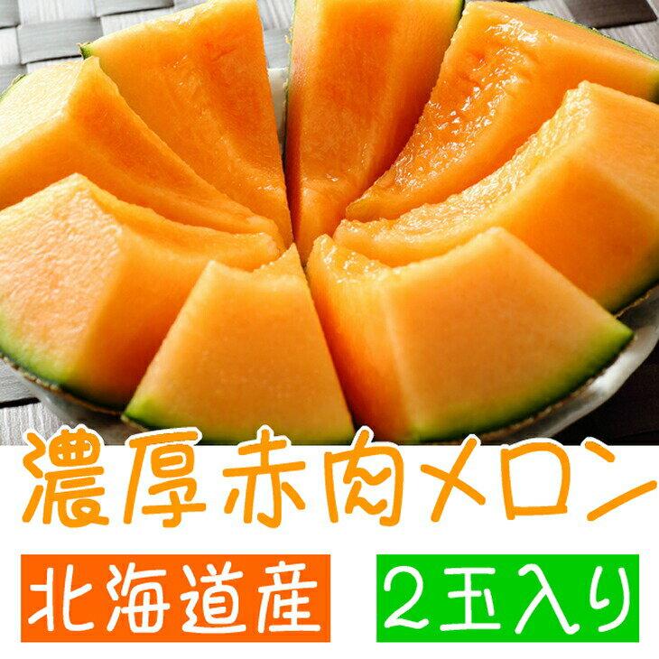 【ふるさと納税】【高級】 北海道産 濃厚赤肉メロン 2玉入り※7月中旬頃〜10月上旬頃に順次発送予定