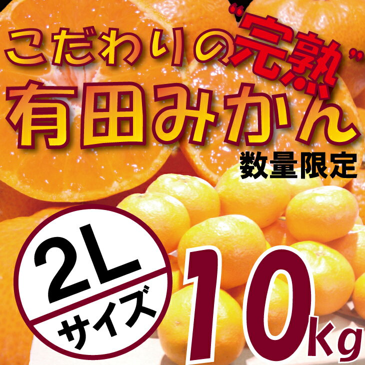 【ふるさと納税】《数量限定》こだわりの完熟有田みかん2Lサイズ10kg【11月中旬より順次発送】家庭用・贈答用《有機質肥料100%》
