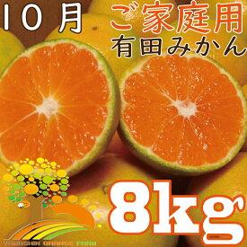 【ふるさと納税】【10月発送】こだわりの有田みかんご家庭用8kg《有機質肥料100%》
