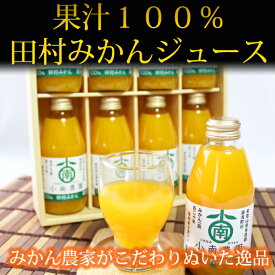 【ふるさと納税】田村みかん果汁100%ジュース 200ml×8本