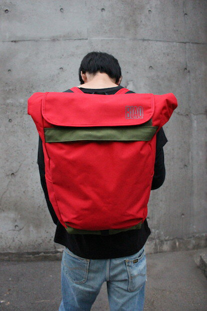 【ふるさと納税】 BlaqPaks PDX(バックパック)medium Red×Olive green