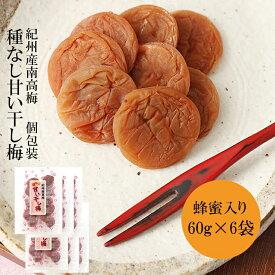 【ふるさと納税】種なし干し梅60g×6袋(はちみつ入) 紀州南高梅 和歌山県産
