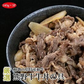 【ふるさと納税】熊野牛牛丼の具 3Pセット