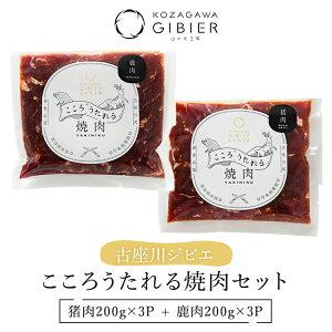 【ふるさと納税】古座川ジビエ こころうたれる焼肉セット 鹿肉200g×3P 猪肉200g×3P 合計6パック