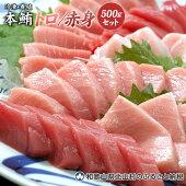 【ふるさと納税】本マグロ(養殖)トロ&赤身セット500g