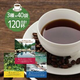 【ふるさと納税】北山村オリジナルドリップバッグコーヒー3種セット(各40袋 計120袋入) コーヒー ふるさと 納税 ドリップ