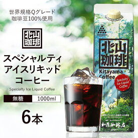 【ふるさと納税】加藤珈琲店コラボ アイスリキッドコーヒー 1L×6本セット