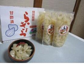 【ふるさと納税】特別栽培らっきょうの甘酢漬