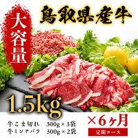 鳥取県産牛大容量6ヶ月定期コース