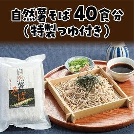 【ふるさと納税】自然薯そば40食分(特製つゆ付き)