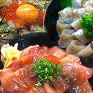日本海の漬け丼と昆布じめ丼おまかせセット