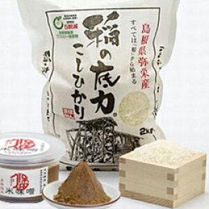 【ふるさと納税】360.無添加樽仕込み!百年米味噌と浜田市弥栄産コシヒカリ